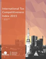 2015 International Tax Competitiveness Report