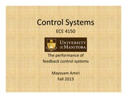 Lecture 4-The perfprmance of feedback control Systems