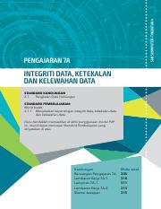 INTEGRITI DATA, KETEKALAN DAN KELEWAHAN DATA