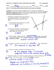 Quiz 2 Solution on Properties of Angles and Polygons
