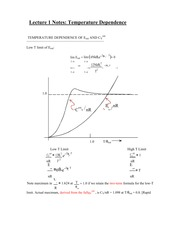 Lecture 1 Notes Temperature Dependence