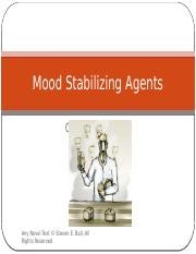 Psychopharmacology and Mood Disorders - Part 2. Stabilizing Bipolar Expressions v3