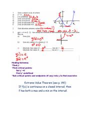 5.2  Mean Value Theorem notes