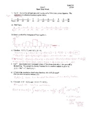 MATH 218 Quiz 3 Solutions