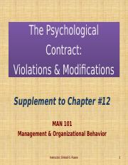 Psychological Contracts PPT