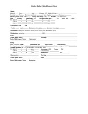 Mother Baby Clinical Report Sheet_F_2013