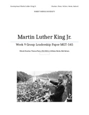MLK Jr. Final Group Paper