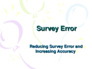 Survey Error