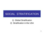 105 Stratification Pt1, Intro&global pp use