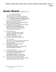 jeremiah isichei - dover beach.docx