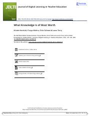What Knowledge Is of Most Worth.pdf