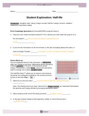 Student Exploration- Half-life (ANSWER KEY).docx - Student ...