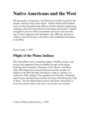 Native Americans and the West