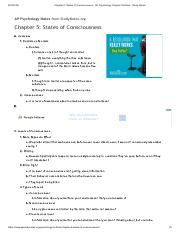 Chapter 5_ States of Consciousness - AP Psychology Chapter Outlines