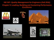 quality management for engineers_chapter9