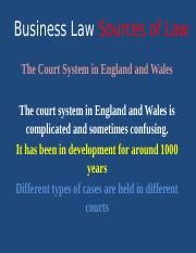 W3 PPT  Sources of Law The Court System