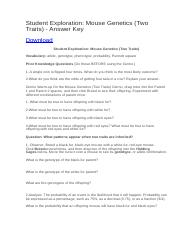 Student Exploration- Natural Selection (ANSWER KEY).docx ...