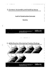 ISCA FRS11 - Audit of Long-Term Manufacturing or Construction Contracts Part 2
