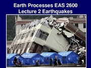 Lecture 2 - Earthquakes