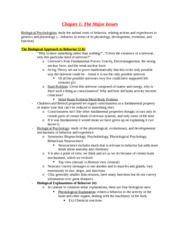 Chapter 1 The Major Issues Notes