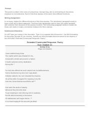 Extended Constructed Response_Poetry