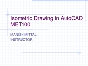 Isometric Drawing in AutoCAD 6