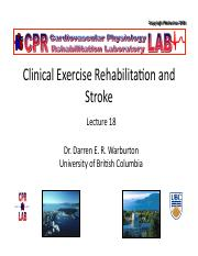 Lecture 18 Clinical Exercise Physiology and Rehabilitation for Stroke Handout.pdf