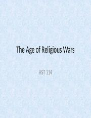 7-The Age of Religious Wars
