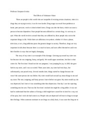 Substance abuse research paper english 1A
