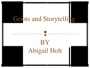 Student Presentation - Griots and Storytelling