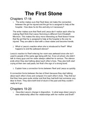 The First Stone Chapter 17-20 Homework Questions