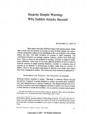 Betts- Surprise Despite Warning- Why Sudden Attacks Succeed.pdf