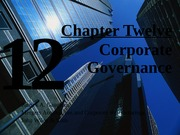 Ch 12 Corporate Governance