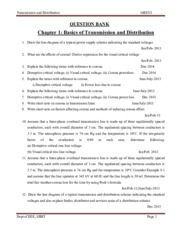 EEE-V-TRANSMISSION AND  DISTRIBUTION [10EE53]-QUESTION PAPER