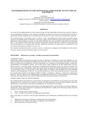 FP_B.2_TUD_STANDARDIZATION OF MAINTENANCE PROCEDURE OF ELECTRICAL EQUIPMENT.pdf