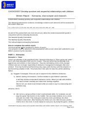 CHCECE007 Written Report V 3.2 until 6.9.docx