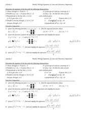 Writing Equations and Func Composition problems