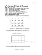 Bestseller: Chapter 10 Dihybrid Cross Worksheet Answer Key Pdf