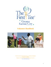 volunteer handbook for first tee
