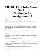Assignment 1 for HUM111.docx