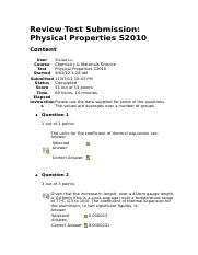 Physical Properties S2010