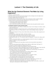 1-CHemistry of Life