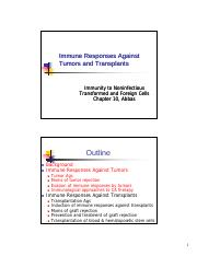 Immunology, lecture 10, CA and Transplants, Abbas student [Compatibility Mode](1).pdf