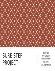 BUS 321_SURE STEP PROJECT_2018.pptx
