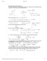 Physics 1710 midterm in class practice