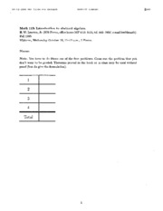 Math 113 - Fall 1995 - Lenstra - Midterm