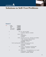 Appendix A; Solutions to Self-Test Problems - Corporate Finance; A Focused Approach (4th Edition)