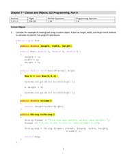 Lecture Notes on Classes and Objects, OO Programming