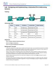 8.1.4.8 Lab - Designing and Implementing a Subnetted IPv4 Addressing Scheme (3)