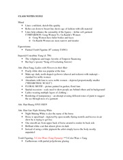 Class Notes 3_13